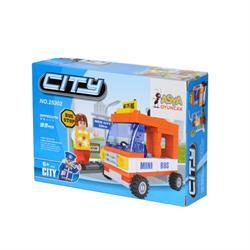 Ausını 93 Parça Küçük Otobüs Mini Lego Oyun Seti