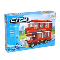 Ausini 282 Parça Lüks Otobüs Mini Lego