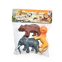 Poşette Vahşi Hayvanlar Oyuncak Seti