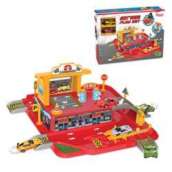 Tek Katlı Araç Otopark Oyun Garaj Seti