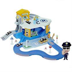 2 Katlı Polis Garaj Set ve Mega Pist