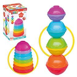 Toplu Mini Kule Bebek Aktivite Oyun Seti