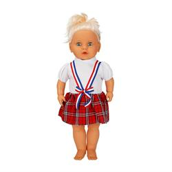 Lila Türkçe Konuşan Renkli Elbise Bebeğim 60 cm