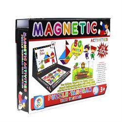 Manyetik Tangram-Puzzle-Yazı Tahtası  Aktivite Oyun Seti