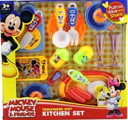 Orjinal Mickey Mouse Mutfak Seti 15 Parça