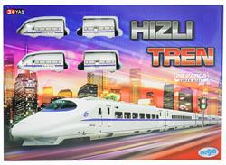 Kutulu 24 Parça Oyuncak Hızlı Tren