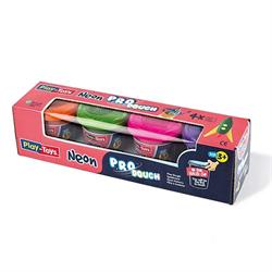 Play-Toys Neon 4lü Küçük Oyun Hamuru