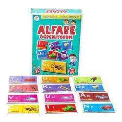 Alfabe Öğreniyorum Kelime Eşleştirme Eğitici Kutu Oyunu