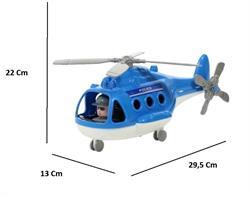 Fileli Plastik Sürtmeli Polis Helikopter