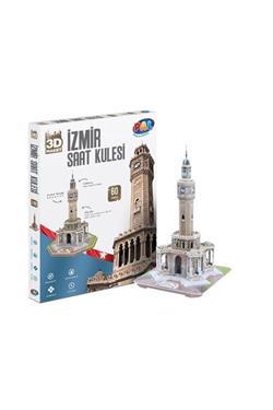 3 Boyutlu İzmir Saat Kulesi Maket Puzzle Pal