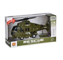 Sesli ve Işıklı Askeri Kurtarma Helikopteri