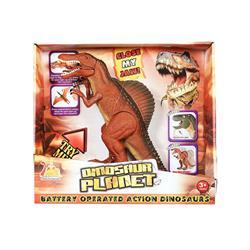 Pilli Sesli Yürüten Kahverengi Dinozor Spinosaurus Oyuncak