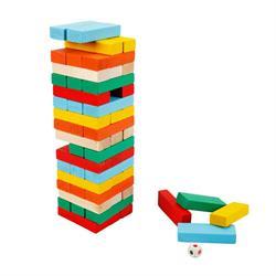 Renkli Denge Oyunu 54 Parça Renk Zarlı