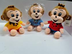 3 Renk Tişört lü Peluş maymun oyuncak