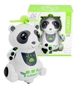 Çarptığı Yerden Dönebilen Işıklı Sesli Oyuncak Panda Robot