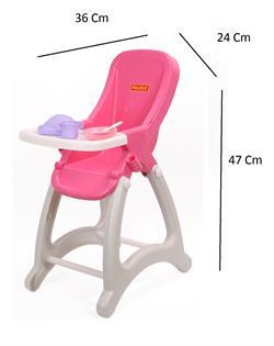 Demonte Yüksek Kalite Oyuncak Bebek İçin Mama Sandalyesi