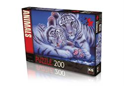 24008 PUZZLE 200 TWO TİGER BABYS -KS