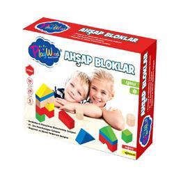 29 Parça Ahşap Eğitici Bloklar Doğal Oyuncak