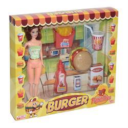 Oyuncka Burger Setili Manken Bebeğim