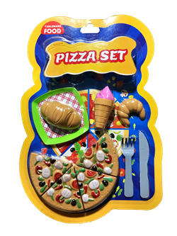 Tableware Food Küçük Pizza Seti (Kartela)