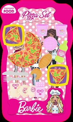 Barbie Lisanslı Pizza ve Tatlı Çeşitleri (Büyük boy)