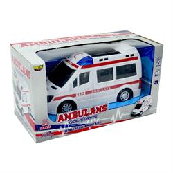 Pilli Sesli ışıklı  112 Ambulans Oyuncak