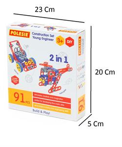 Polesie 91 Parça Kutulu Mucit Tasarım Oyuncak Lego