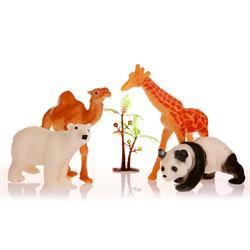Poşetli Hayvanlar 4 parça Deve Panda Zürafa Kutup Ayısı
