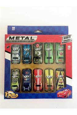10 Arabalı Figür Oyuncak - Arabalar Oyuncak - Metal Arabalar - Metals Cars