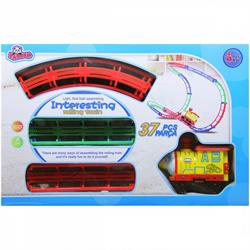 Işıklı 37 Parça Raylı Oyuncak Tren