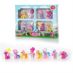 8 Li Sevimli Minik Atlar Oyuncak Seti