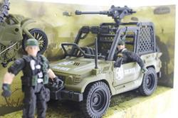 Combat Force Jeep ve Motorlu Asker Seti