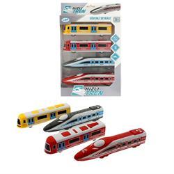 2 Li Çek Bırak Plastik Kutulu Hızlı Tren Vagon Seti