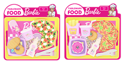 Barbie Tepsili Oyuncak Pizza Seti