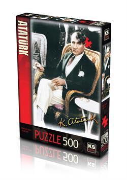 11205 PUZZLE 500 Kahve İçen Atatürk -KS