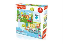 FP 13406 FP Baby Puzzle Railway & Bedtime 2in1 -KS