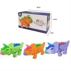 Pilli Boynuzlu Hareketli Yürüyen Dinozor Oyuncak