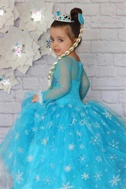 9-11 Yaş Uzun Kollu Prenses Kostüm Seti