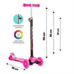 Torutoys Maxi Twist Işıklı Scooter Pembe
