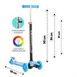 Torutoys Mavi Twist Işıklı Scooter Kırmızı