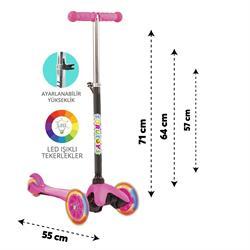 Torutoys Twist Işıklı Scooter Pembe