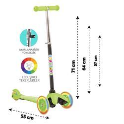Torutoys Twist Işıklı Scooter Yeşil