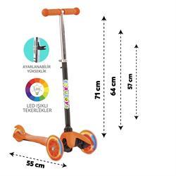 Torutoys Twist ışıklı Scooter Turuncu