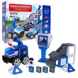 Magnetik 50 Parça Polis Lego Seti