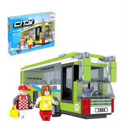 Ausını 274 Parça Oyuncak Mini Lego Oyuncak Otobüs Seti