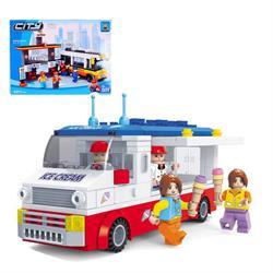 Ausını 259 Parça Dondurma Arabası Oyun Seti Mini Lego