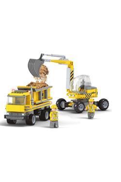 Ausini 293 Parça Kepçe Ve Kamyon Mini Lego Seti