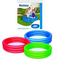 102*25 Cm  Poşetli Düz Renk Çocuk Oyun Havuzu