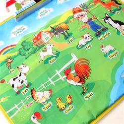 Birlik Oyuncak Eğitici Çiftlik Halısı