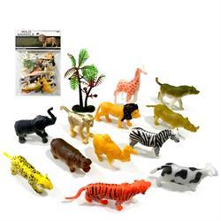 12 Parça Mini Vahşi Hayvanlar